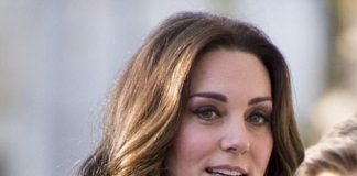 Kate who has been sporting a shorter hairstyle in recent weeks showcased her glossy locks at the event
