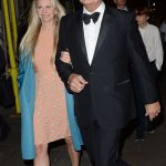 Kelsey Kramer arrived in black tie with his blonde haired partner on his arm