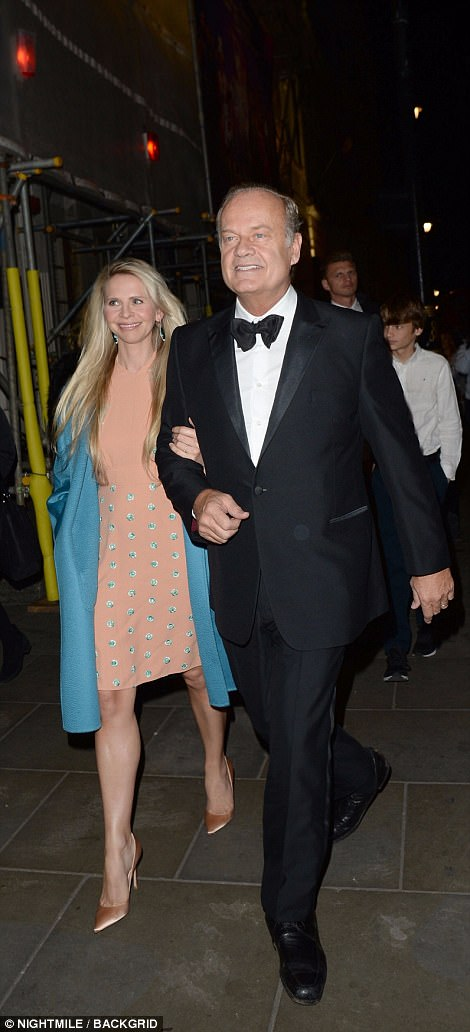 Kelsey Kramer arrived in black tie with his blonde-haired partner on his arm