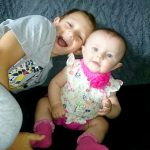 Kia developed a rash across her body two months ago before with her brother Kayden eight