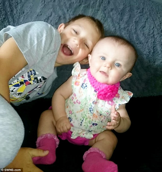 Kia developed a rash across her body two months ago (before with her brother Kayden, eight)