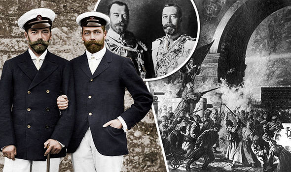 King George V and Russian Tsar Nicholas II had a close bond before the revolution Photo C GETTY