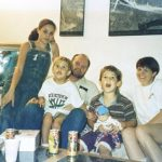 Left to right Meghan at 11 years old with her nephew Thomas Dooley her father Thomas Markle Sr her nephew Tyler Dooley