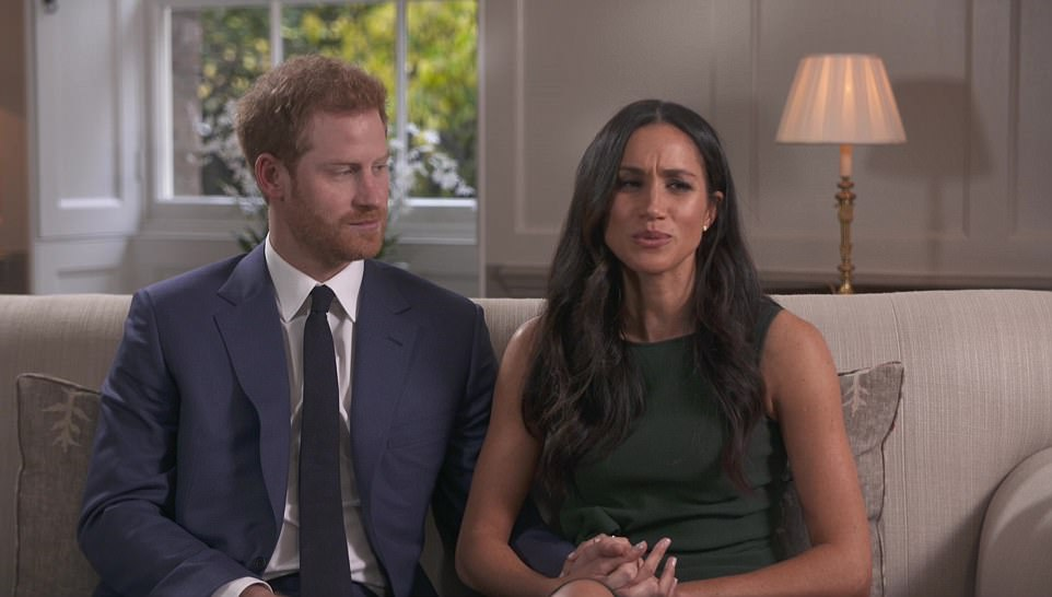 Meghan Markle said 'yes' immediately to Prince Harry after he proposed on one knee while they were cooking dinner, the couple said in their first joint interview