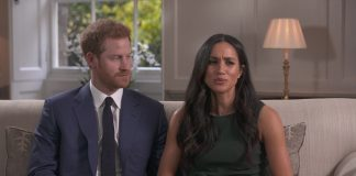 Meghan Markle said 'yes' immediately to Prince Harry after he proposed on one knee while they were cooking dinner, the couple said today in their first joint interview