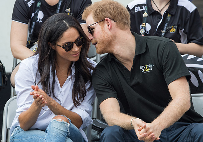 Meghan and Prince Harry made their first public appearance together in September Photo (C) GETTY