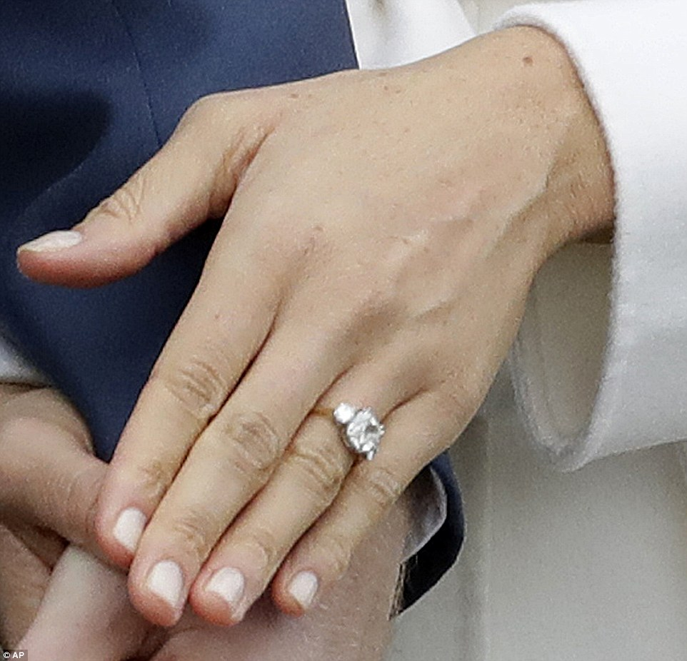 meghan markle�s engagement ring includes diamonds worn by