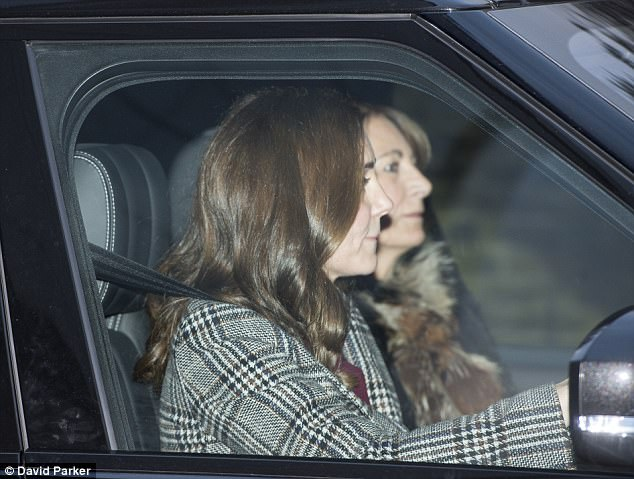 Mother-daughter time The Duchess of Cambridge, 35, was spotted driving her mother Carole Middleton, 62, out of Kensington Palace on Wednesday afternoon