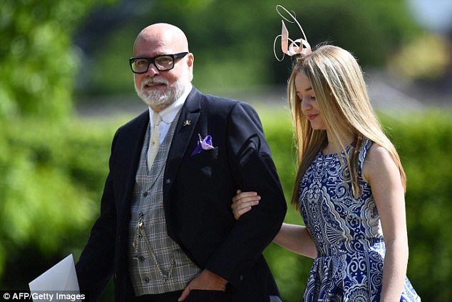 Mr Goldsmith is seen with his daughter Tallulah at Pippa Middleton's wedding this year. His fourth wife Julie-Ann was reportedly not invited to the ceremony