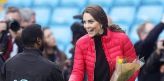 ON A HIGH Kate looked to be in a joyful mood having overcome her morning sickness stage