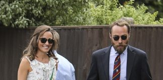 Pippa Middleton arriving at this years Wimbledon with brother James