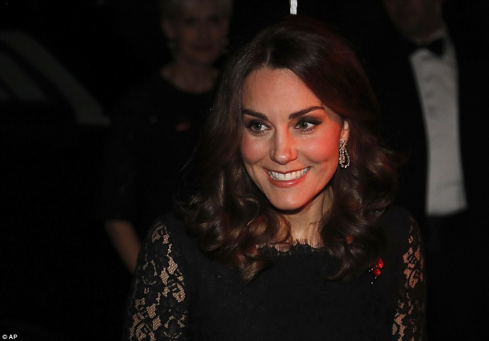 The Duchess of Cambridge looked elegant in a floor-length Diane Von Furstenberg frock as she attended the charity gala
