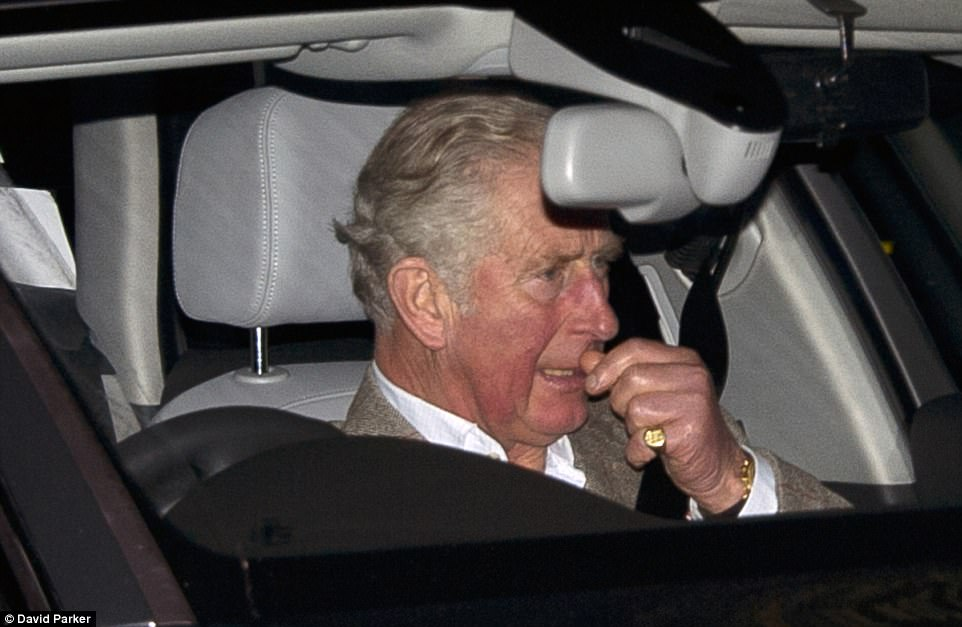 Prince Charles was not far behind taking the front seat and is expected to be joined by the Duchess of Cornwall this evening