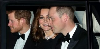 Prince Harry Kate Middleton and Prince William arrived at Windsor Castle to attend The Queen and Prince Philips 70th wedding anniversary dinner on November 20 2017 Getty