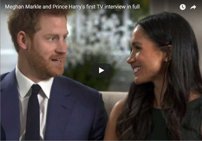 Prince Harry Meghan Markle Royals British Royal Family Video Interview Engagement Interview