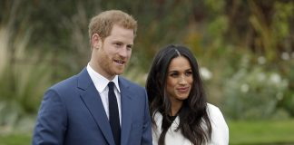 Prince Harry and Meghan Markle appeared at a photocall at London's Kensington Palace yesterday