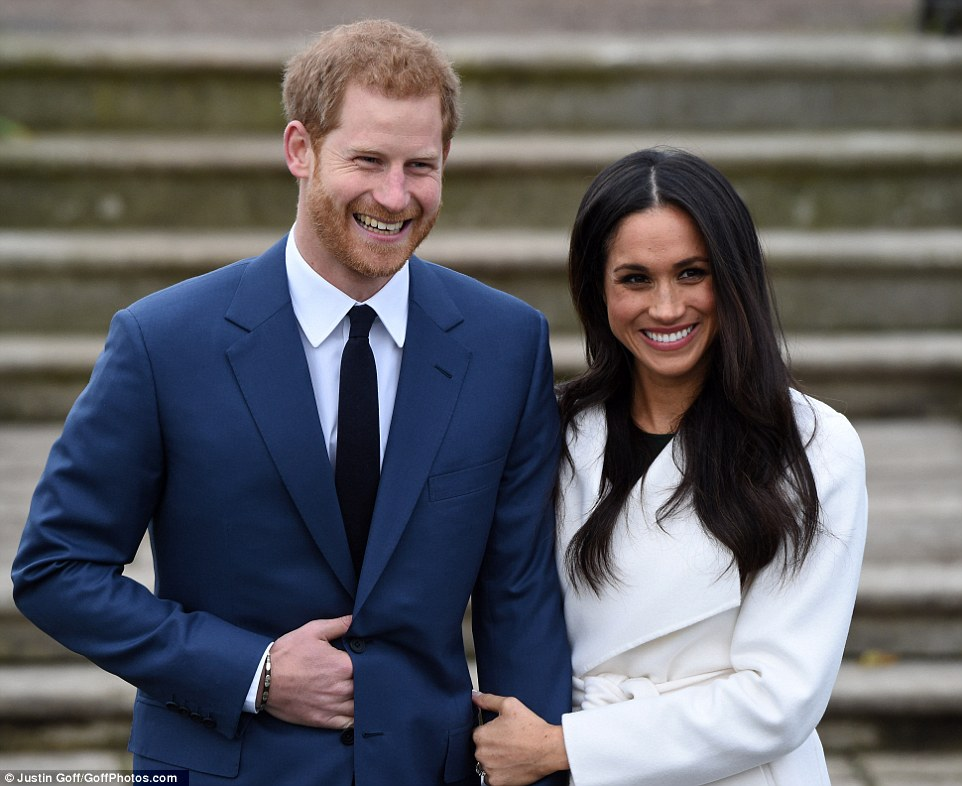 Prince Harry and Meghan Markle have appeared in public for the first time since announcing they will marry next year as the world glimpsed the American actress' engagement ring