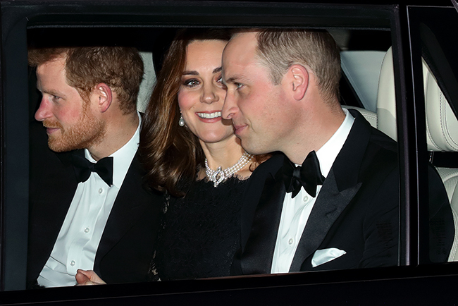 Prince Harry arrived with William and Kate Photo (C) GETTY IMAGES