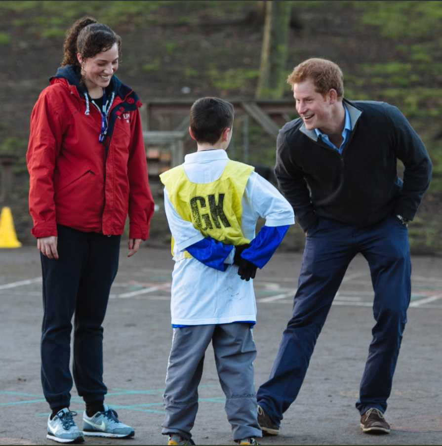 Prince Harry will share a stage later with the inspiring Chantelle Stefanovic – a key Photo (C) KENSINGTON PALACE TWITTER