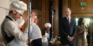 Prince William judged a cooking competition on Friday Photo (C) GETTY IMAGES