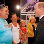 Prince William meets the Benidorm cast Jake Canuso Sherrie Hewson Tony Maudsley and Janine Duvitski