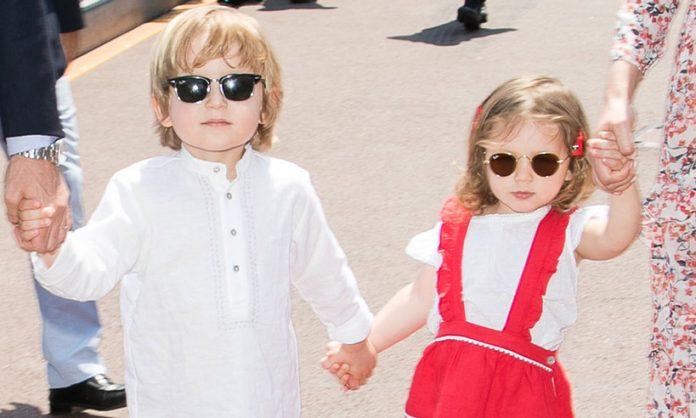 Princess Caroline's grandchildren star in newly released photos for Baby Dior Photo (C) GETTY