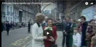 Princess Diana hands out ChrisPrincess Diana hands out Christmas presentstmas presents