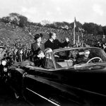 Princess Elizabeth and the Duke of Edinburgh at Riverdale Park Toronto during their tour of Canada.