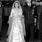 Princess Elizabeth and the Duke of Edinburgh leaving Westminster Abbey after their wedding ceremony Photo (C) GETTY