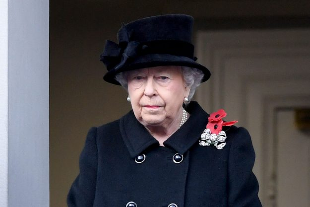 Queen Elizabeth II also wore three poppies for Remembrance Sunday [Getty]