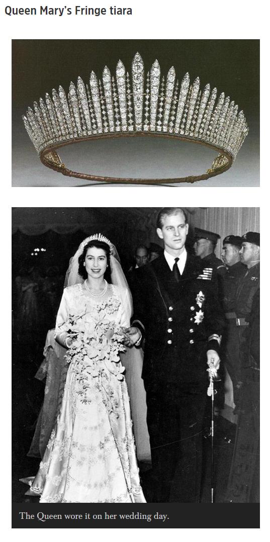 Queen Mary's Fringe tiara Queen's Mother Tiara Photo (C) GETTY IMAGES