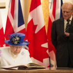 Queen and Prince Philip Image two the Prince is looking for a pen in his pocket Photo C GETTY