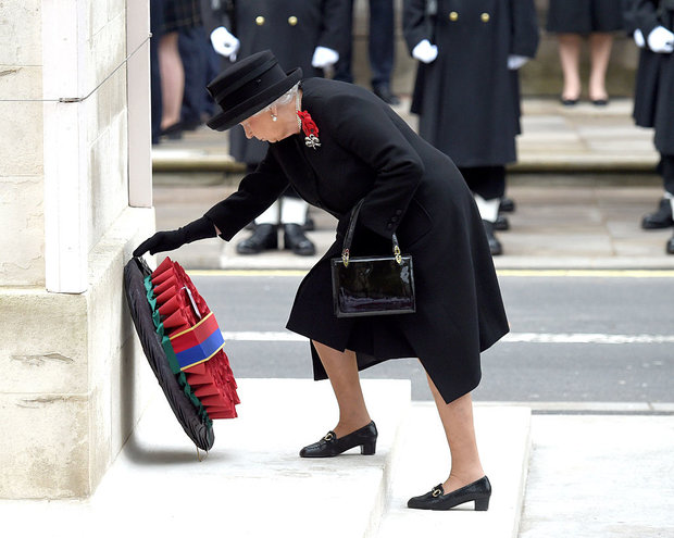 STEPPING BACK The Queen will not be laying a wreath at the Cenotaph today
