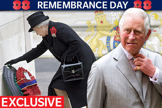 STEPPING IN Prince Charles will take over one of the Queens major Remembrance Day roles today Photo C GETTY