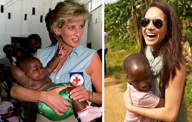 She's a passionate humanitarian like Diana. Photo Getty and World Vision