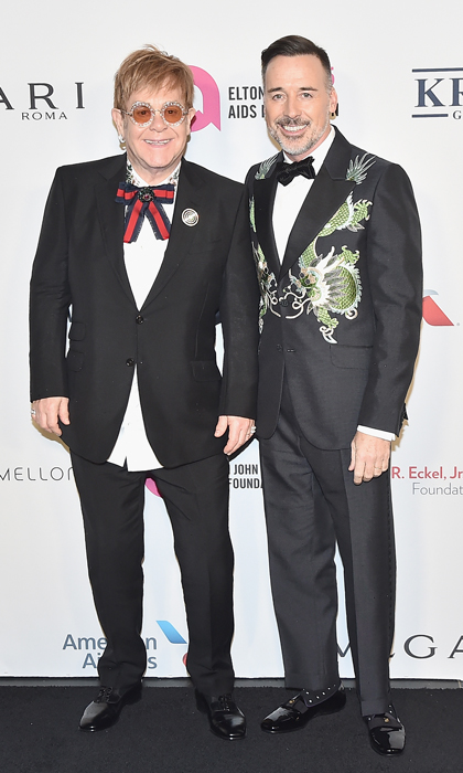 Sir Elton John and David Furnish attended the Elton John AIDS Foundation Gala presented by Clase Azul Tequila in New York on 7 November Photo Theo Wargo Getty Images