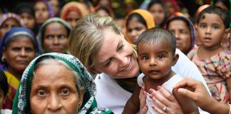 Sophie Wessex met with locals in Bangladesh this week Photo C GETTY