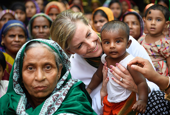 Sophie Wessex shows off her maternal side as she meets locals in Bangladesh Photo C GETTY