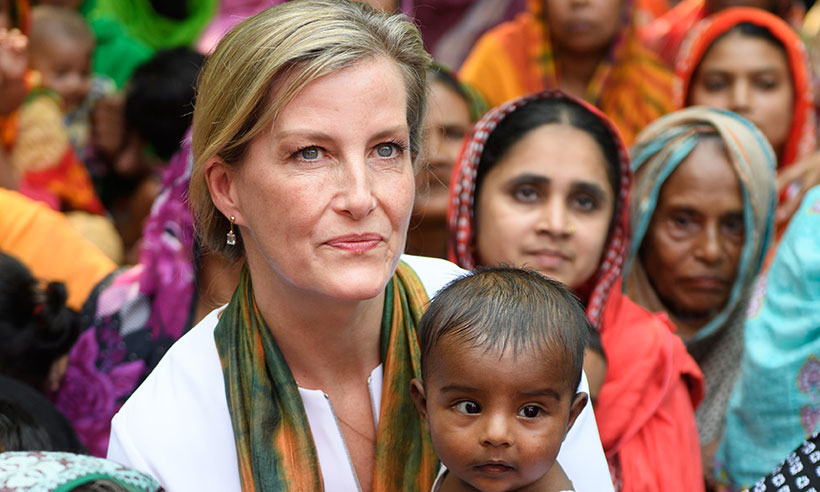 Sophie Wessex shows off her maternal side as she meets locals in Bangladesh Photo (C) GETTY