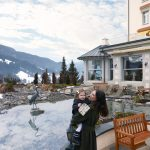 Tatiana and her daughter enjoyed a quite moment while in the Swiss Alps Photo C Baby Dior