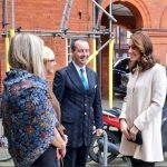 The Duchess arrives at Hornsey Road Childrens Centre to see the facilities which support local parents and young childrent Photo C TWITTER KENSINGTON PALACE