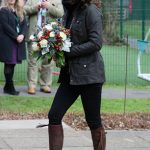 The Duchess looked blooming gorgeous at the Robin Hood School
