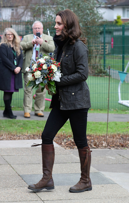 Duchess Kate looked cosy in casual jacket