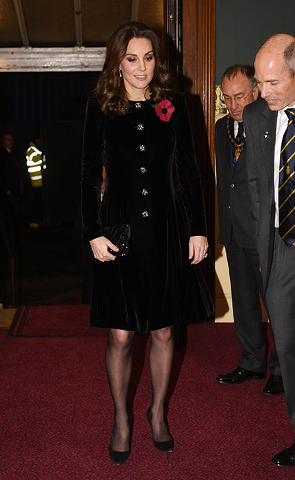 The Duchess of Cambridge attends the Royal Festival of Remembrance. Photo C GETTY IMAGES