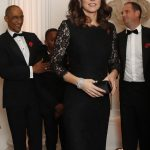 The Duchess of Cambridge looked stunning in the elegant black gown Getty