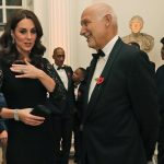 The Duchess of Cambridge, speaks to Peter Fonagy, CEO of the Anna Freud Centre at the event on Tuesday night