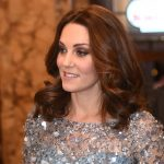 The Duchess of Cambridge who is four months pregnant looked radiant in her heavily embellished Jenny Packham dress