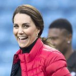 The Duchess of Cambridge wraps baby bump up in cosy red puffa jacket Photo C GETTY