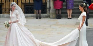 The Duchess of Cambridges wedding dress maker talks creating the gown Photo C GETTY