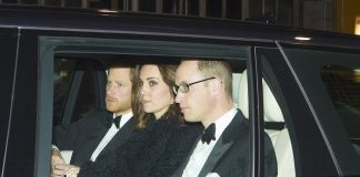 The Duke and Duchess of Cambridge joined Prince Harry for the Queens 70th anniversary celebrations at Windsor Castle on Monday evening